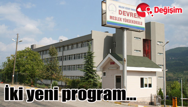 BEܒde iki yeni program...